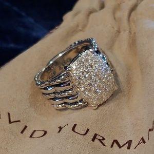 David Yurman Diamond pave Tides ring 8 Wheaton